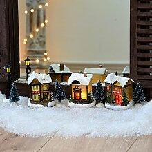 LED Weihnachtsbeleuchtung innen Weihnachts-Dorf