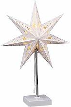 LED Weihnachtsstern Tischlampe - 47 x 35 cm -