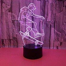 Led8N 3D Illusion Lampe LED Nachtlicht,7 Farben