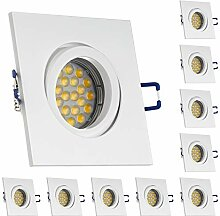 LEDANDO 10er LED Einbaustrahler Set für