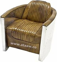 Leder Aluminium Stuhl