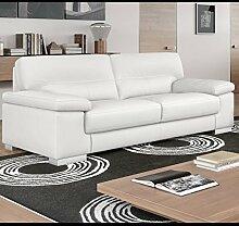 Leder Couchgarnitur Leder Sofa Sofagarnitur 2-Sitzer Wohnlandschaft Ledergarnitur