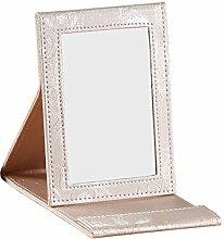 Leder Faltung tragbare Spiegel Spiegel Creative mit Schlafsaal Prinzessin Spiegel Kosmetikspiegel Desktopgröße Spiegel-M