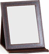 Leder Faltung tragbare Spiegel/Spiegel/Creative mit Schlafsaal Prinzessin Spiegel/Kosmetikspiegel/Desktopgröße Spiegel-J