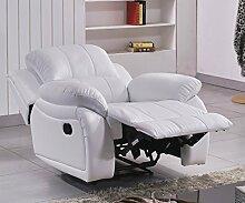 Leder Fernseh Sofa-Sessel Relaxsessel Fernsehsessel mit Schlaffunktion 5129-1-W