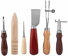 Leder Handwerk Werkzeuge, 6 STÜCKE Leder Handwerk