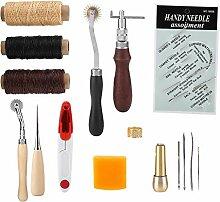 Leder schnitzende Werkzeuge Lederhandwerk-Set