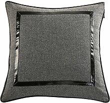 Leder-Sofa-Kissen Büropolster Bett Kissen-A 50x50cm(20x20inch)VersionA