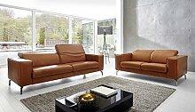 """Leder Sofa """"Vicenza"""" Funktionssofa, Kopfteil Funktion, 2er, moebelhome Couch"""