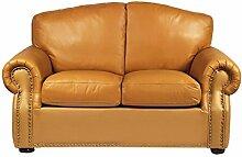 Leder Sofa Vintage Chesterfield Ledersofa 2 Sitzer