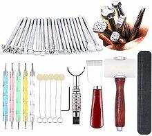 Leder Stamping Tools - Leder Schnitzwerkzeug Kit,