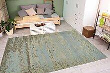 Leder Teppich Patchwork Design Lederteppich Beige