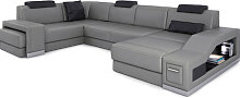 Leder Wohnlandschaft PRATO - Ledersofa Sofa Couch