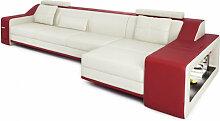 Ledercouch L-Form BERLIN III -  Designer Sofa