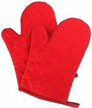 Lederschutzhandschuhe Cotton Öfen Handschuhe, mit