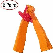 Lederschutzhandschuhe Extra Long Sleeve Schweißer