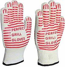 Lederschutzhandschuhe Silikon-Ofen-Handschuhe mit