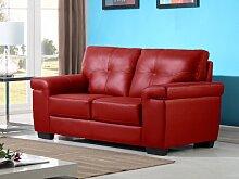 Ledersofa 2-Sitzer HAZEL - Rot