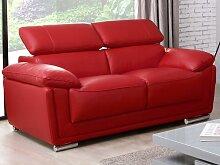 Ledersofa 2-Sitzer MISHKA - Rot