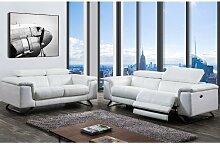 Ledersofa 3-Sitzer mit elektrischer Relaxfunktion