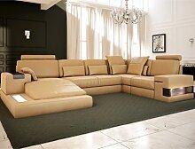 Ledersofa Sofa Couch HAMBURG - BULLHOFF®