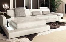 Ledersofa Sofa Couch - HAMBURG III -  Ledercouch -