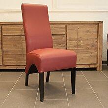 Lederstuhl Lederstühle Regina   Leder Rot ergonomischer Esszimmer-Stuhl Stühle