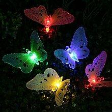 lederTEK Solar Lichterkette, Schmetterling Form,