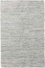 Lederteppich BASICS, 140 x 200, beige/grau