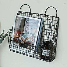 Ledge Iron Rack Creative Wand-Bücherregal 35 * 10