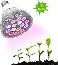 LEDGLE Pflanzenlampe Volles Spektrum Pflanzenleuchte mit Standard E26/E27 Basis Wachstumslampe für Zimmerpflanzen Gemüse und Blumen