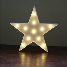 LEDMOMO 11 LED Stern Tischlampe Nacht Licht