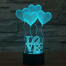 LEDMOMO 3D Lampe Nachtlicht Stimmungslicht