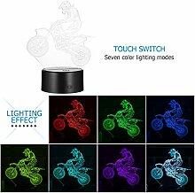 LEDMOMO 3d tischlampe touch control led acryl