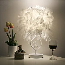 LEDMOMO Feather Table Light, Crystal Shape Feather