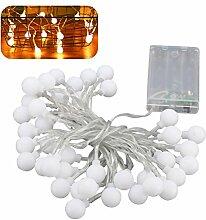 LEDMOMO Kugel-Lichterkette, 50 LEDs,