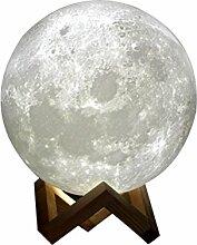 LEDMOMO LED 3D Druck Moon Lampe, Nachtlicht für