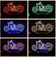 LEDMOMO Motorrad 3D Nachtlicht, 3D Illusion Lampe