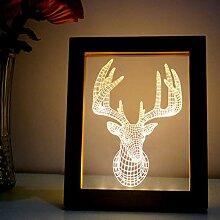 LEDMOMO Nachtlicht 3D Illusion Tischlampe