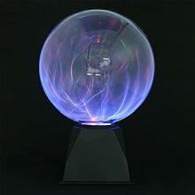 LEDMOMO Plasmaball Magische Plasmakugel Blau Licht
