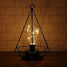 LEDMOMO Retro Eisen Diamant Lampe