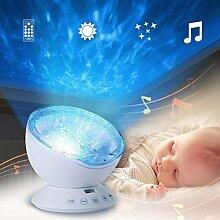 LEDMOMO Schlaf Projektion LED Nachtlicht Lampe mit