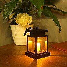 LEDMOMO Solar LED Kerze Laterne Wasserdichte