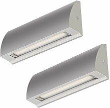 ledscom.de LED Wand-Lampe Segin Treppenlicht für