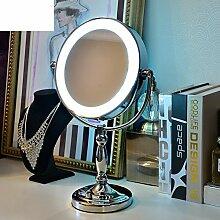 LEDSpiegel Bench-Top Stil beleuchtete Kosmetikspiegel Die Prinzessin Spiegel kreative verstellbare Spiegel-B