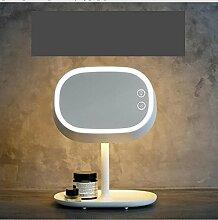 LEDSpiegel Korea Desktop mirror Plug-in-Dimmer Spiegel mit Lampe Königin Prinzessin Spiegel Kommode Lampe-A