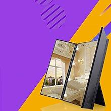 LEDSpiegel/Portable portable klappbare Spiegel mit Lampe/Tabelle-große Spiegel/Westernstil Kosmetikspiegel-C