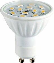 ledtek ldgucsmdd5ww Keramik SMD LED Dimmbar Lampe mit warm weiß Farbtemperatur, Keramik, weiß, GU10, 5W