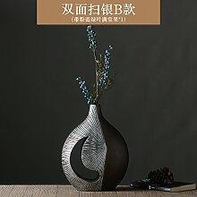 LeediooDas silber ray Harz Holz Handwerk Kunst Vase Ornamente europäischen Heimtextilien Schmuck Schmuck Produkt, B (mit Blau Grün voller Früchte)