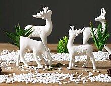 LeediooDie Nordischen modernen minimalistischen Wohnzimmer TV-Schrank weiße Hirsche Heimtextilien Keramik creative soft Dekoration Dekoration